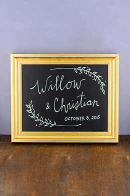 Framed Chalkboard Gold 11x14
