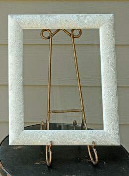 "Framed Glass for Signs Cream & Gold 11"" x 14"""