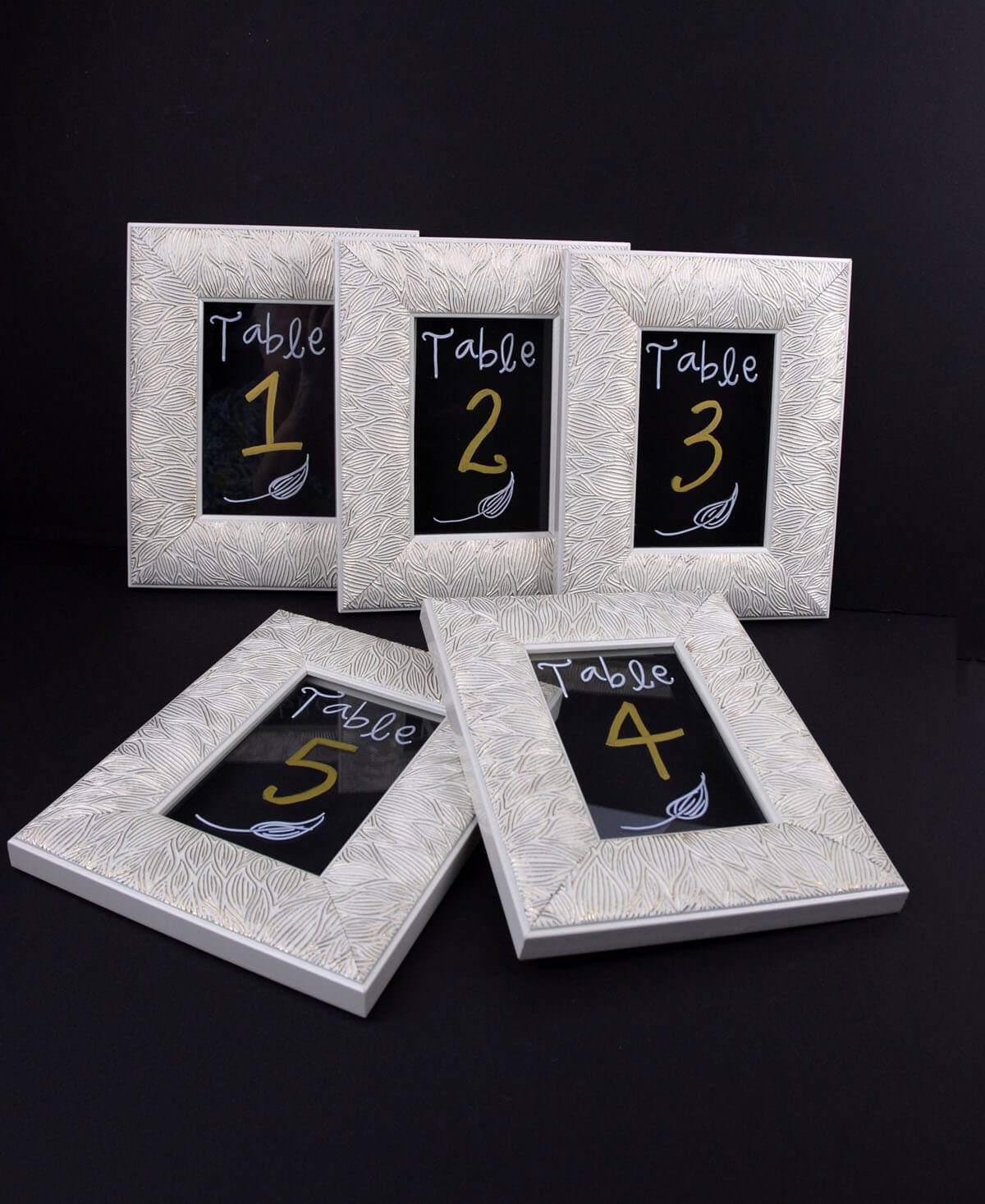 5 Framed Glass For Table Numbers 4x6