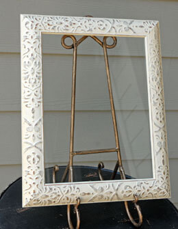 "Framed Glass for Signs Ivory 11"" x 14"""