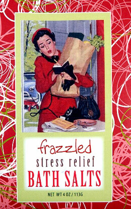 Frazzled Stress Relief Bluebird Bath Salts: