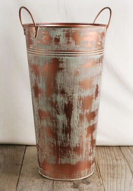Flower Market Bucket Copper 15in