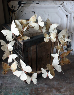 Butterfly Wreath Paper