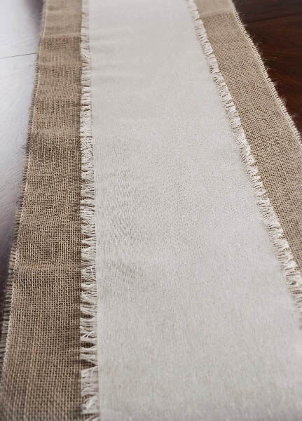 Fringed Edge Linen Table Runner Amp Chair Sash 108in