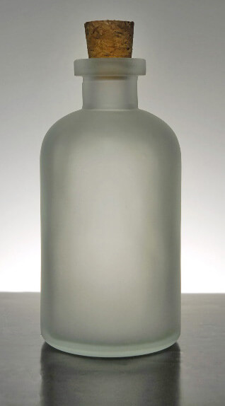 Apothecary Bottle 8 Oz. Frosted Glass Cork Top