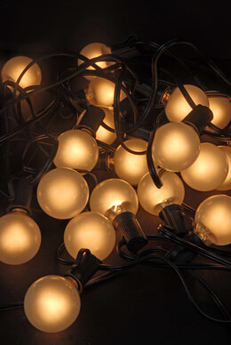 Frosted Globe String Lights 28ft (25 Bulbs)