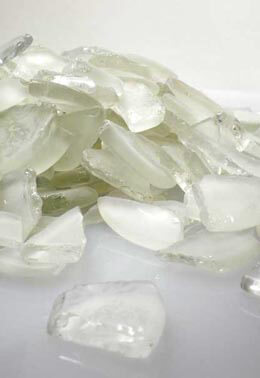 Frosted White Beach Glass  3 lbs