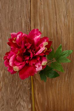 Fuchsia Dark Pink Silk Peony Flowers