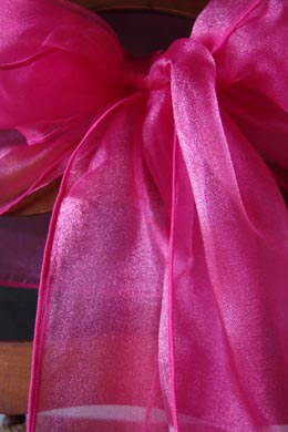 10 Fuchsia Pink Organza Chair Sashes