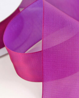Ribbon Two Tone Fuchsia 1.5in