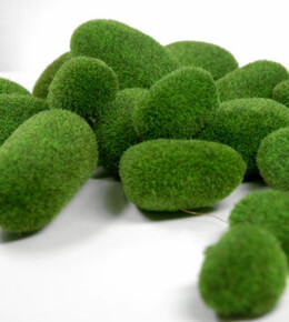 Fuzzy Moss Covered Stones (18 pieces)