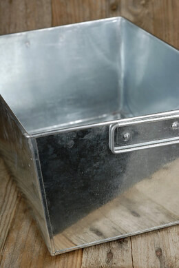 Galvanized  Rectangle Tub with Handles 14x10
