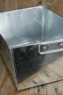 Galvanized  Rectangle Tub with Handles 14x10