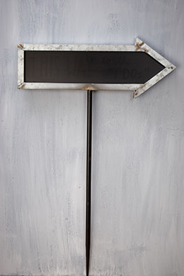 Galvanized Arrow Sign 20in