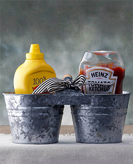 "Galvanized Bucket Pair 6"" x 11.5"""