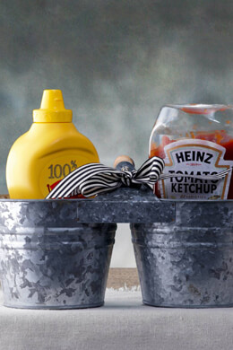 Double Bucket Condiment Holder