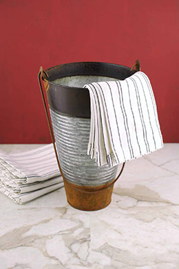 Galvanized Bucket Ribbed 10in