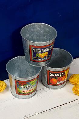 Galvanized Buckets 4in (Set of 3)