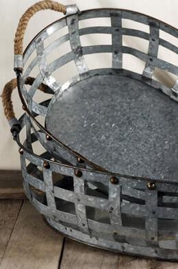 Aspire Hudson 2 Piece Metal Basket Set