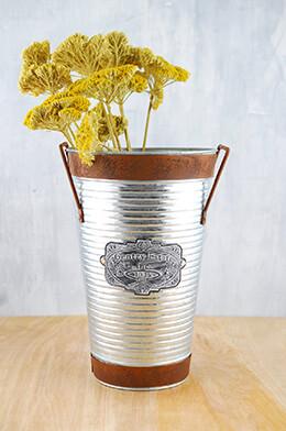 Galvanized Metal Bucket 10.2in