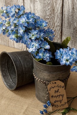 Galvanized 8 Inch Flower Bucket
