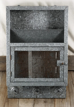 Mail Cabinet Galvanized Metal