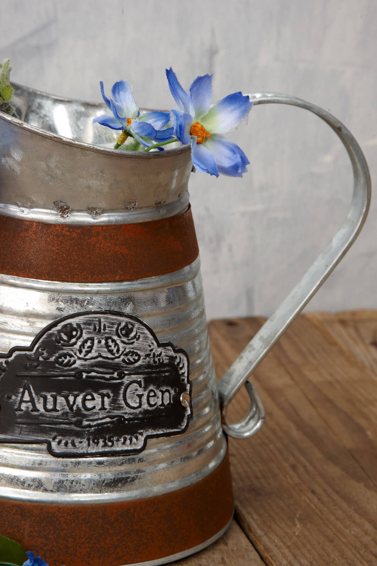 Galvanized Metal Pitcher 7in