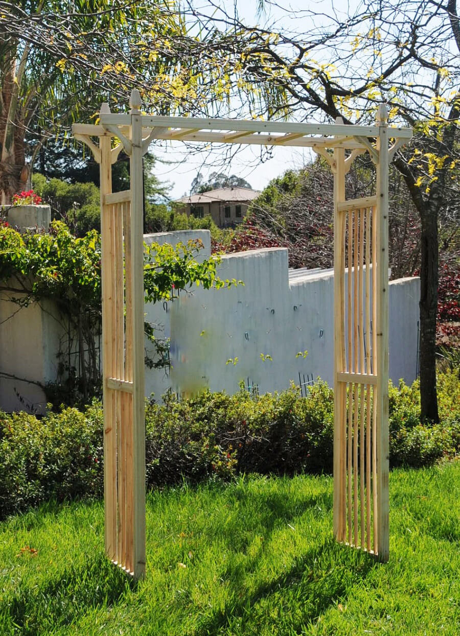 Garden Arbor 84in Natural Wood