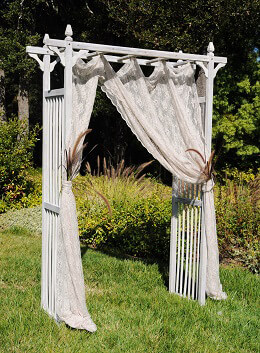 Garden Arbor 84in Whitewash Wood