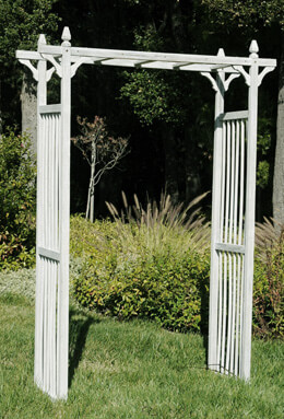 Garden Arbor 84in Whitewash Wood SHIPS FREE