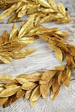 Deluxe Gold Bay Leaf Garland  6ft