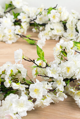 Deluxe White Cherry Blossom Garlands