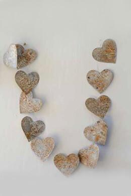 Rustic Tin Heart Garland