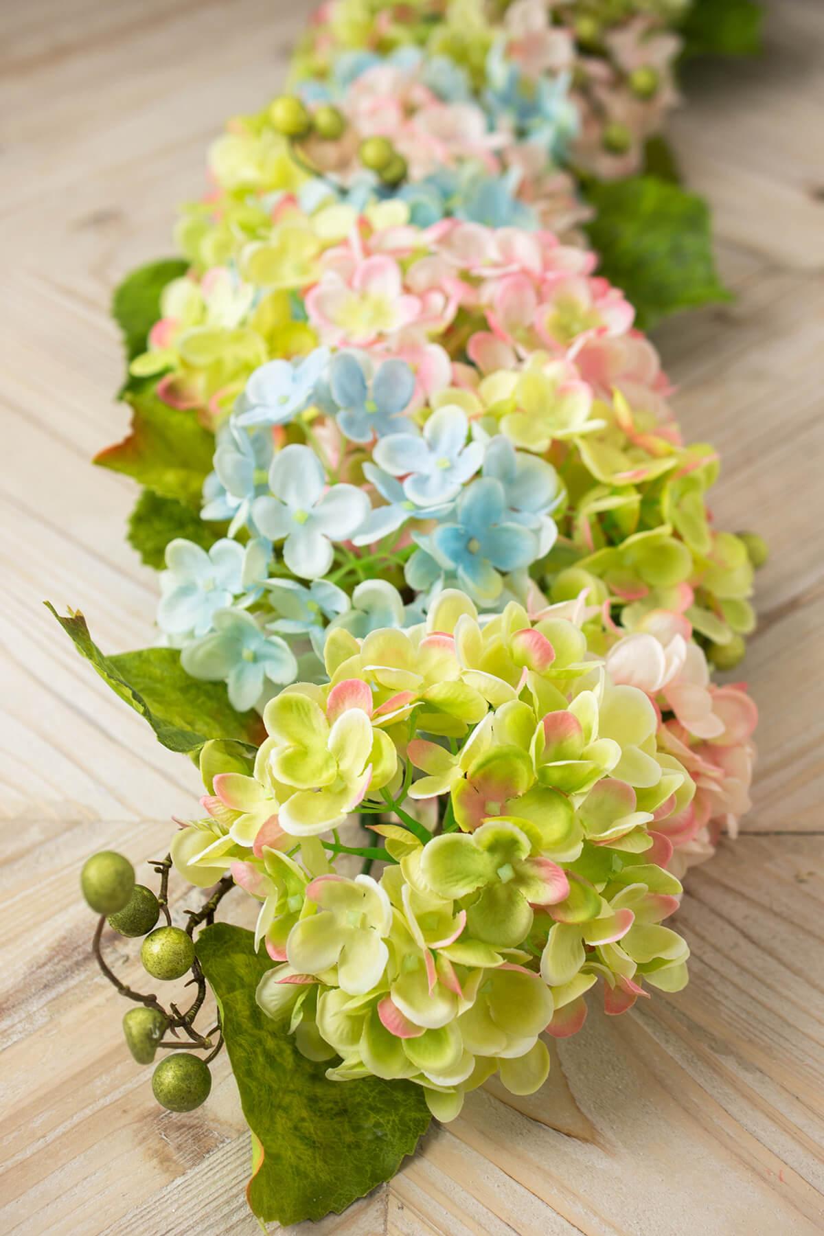 hydrangeas flowers, dried, preserved, silk, Beautiful flower