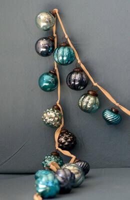 "72"" Mercury Glass Ball Garland"