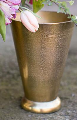 """Gold Gatsby Vase 6.25'' x 8.5"""""""