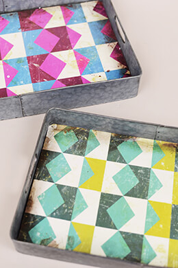 Geometric Metal Trays (Set of 2)