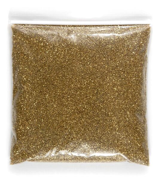 German Glass Glitter Gold 1 lb. bag