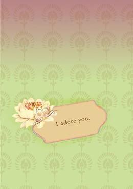 Gift Card Papaya - I Adore You- Blank inside