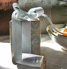 Gift Wrapping - Eco Fill  paper shred, excelsior, boxes, wrapping paper,  raffia