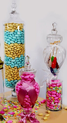 "Glass Apothecary Jars 23"""