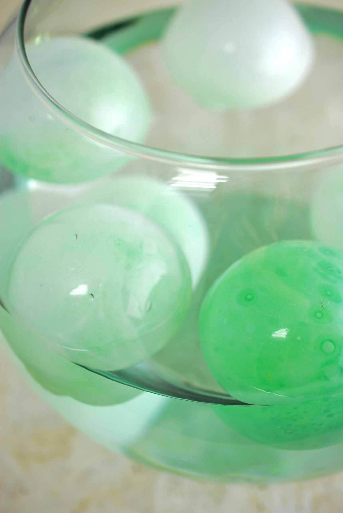Six 3 Inch Glass Floats