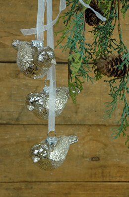 Glass Bird Ornaments (Set of 3)
