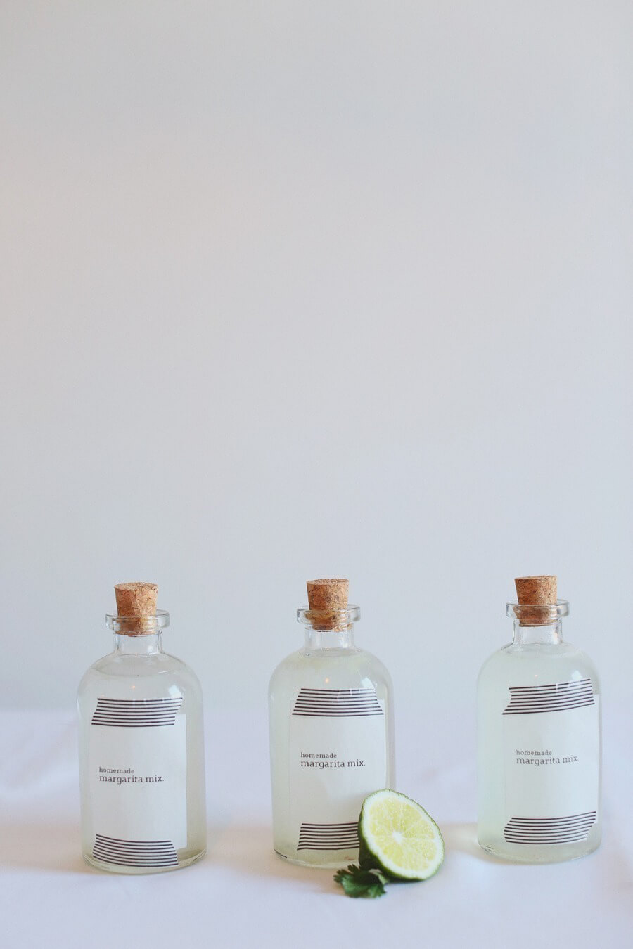 12 Clear Glass 8 Oz. Apothecary  Bottles with Cork Tops
