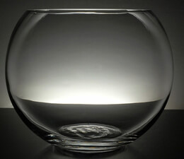 "Glass Bowls Vases Bubble Ball 10"" Clear Glass (2 vases)"