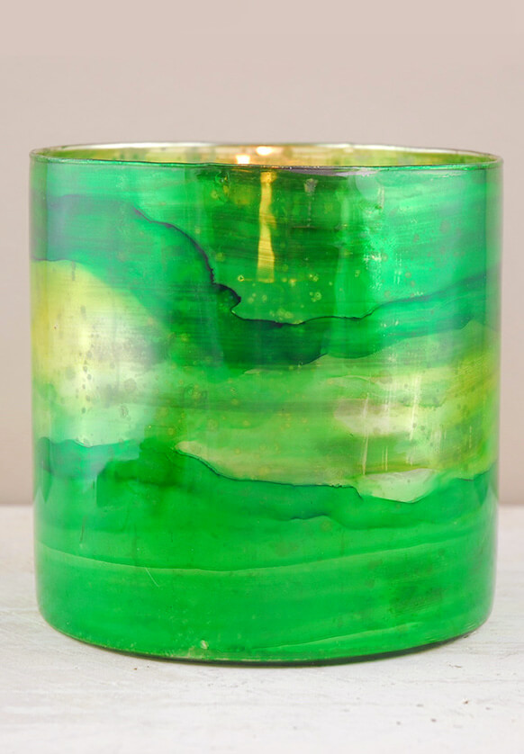 "Elixir Green Vase & Candleholder 6"""