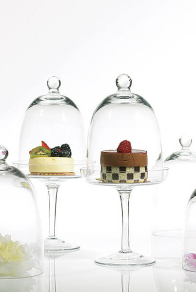 "Krave Dessert Stand and Dome 6""x 13"" Clear"