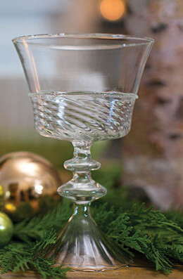 Hope Glass Compote 7""