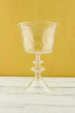 Glass Compote 4.5x7.5in