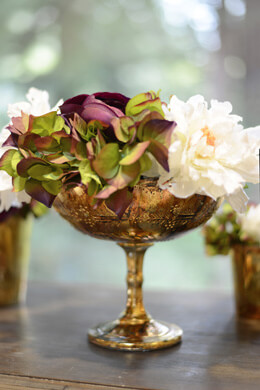 Glass Compote Desiray 8x7in Gold